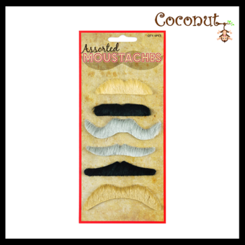 Moustache Pack - 6 Assorted styles