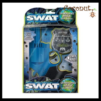 SWAT Sparkling Pistol with Badge