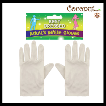 Adult's White Gloves