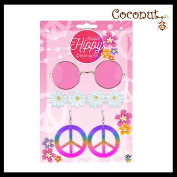 Instant Hippie Dress-up Set