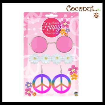 Instant Hippie Dress-up Set
