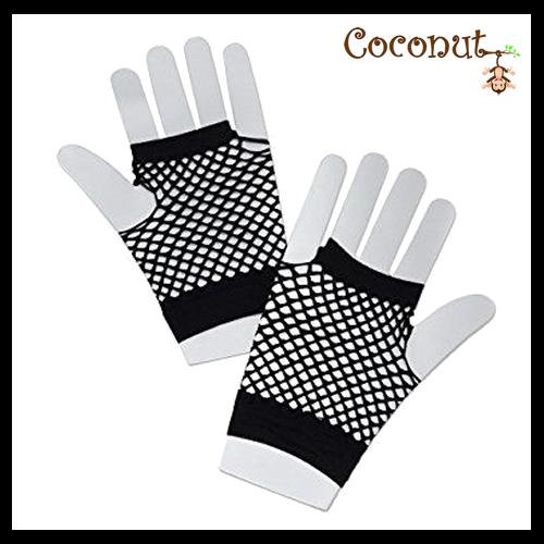 Fishnet Gloves - Black