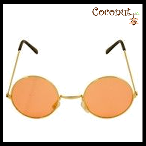 Hippie - Gold Frame with Orange Lens