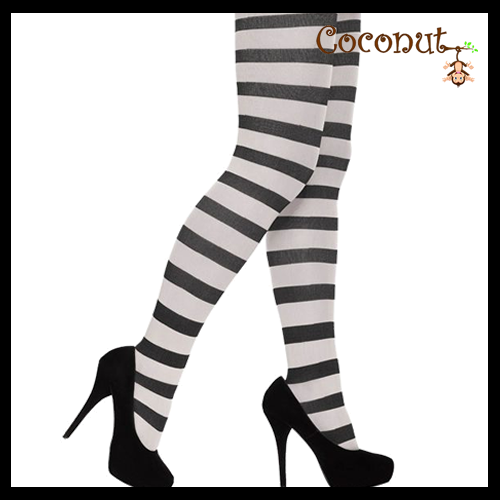 Stripey Tights - Black and White