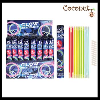 12 Glow Bracelets - Assorted Colours