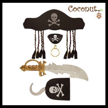 Pirate Set 5 Piece - Adult