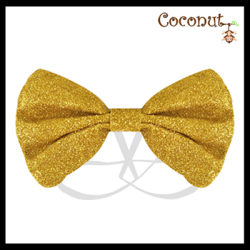 Glitter Bow - Gold