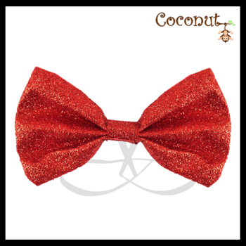 Glitter Bow - Red