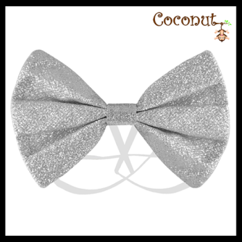 Glitter Bow - Silver