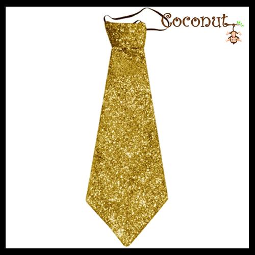 Glitter Tie - Gold