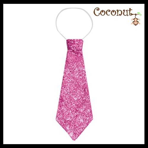 Glitter Tie - Pink