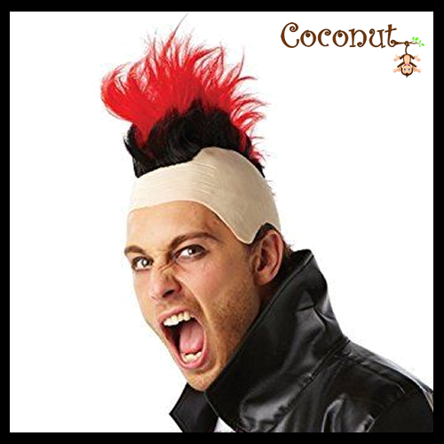 Mohawk Wig - Red