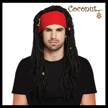 Pirate with Bandana and Dreadlocks