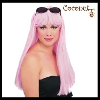 Glamour Wig - Pale Pink