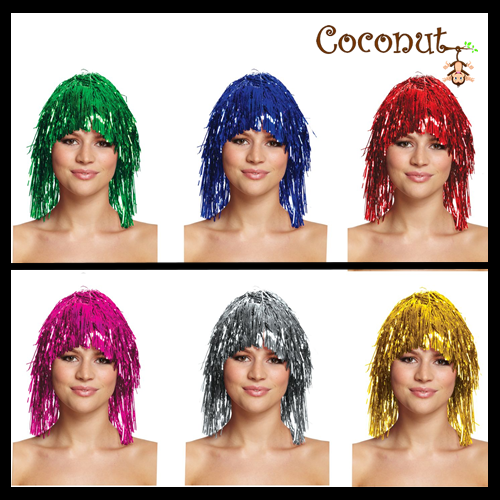Tinsel Wigs - Assorted