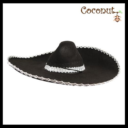 Black Sombrero with Silver and Black Trim