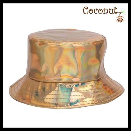 Metallic Bucket Hat - Gold