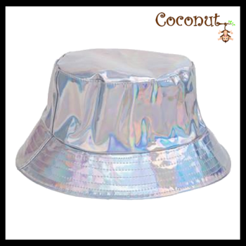 Metallic Bucket Hat - Silver