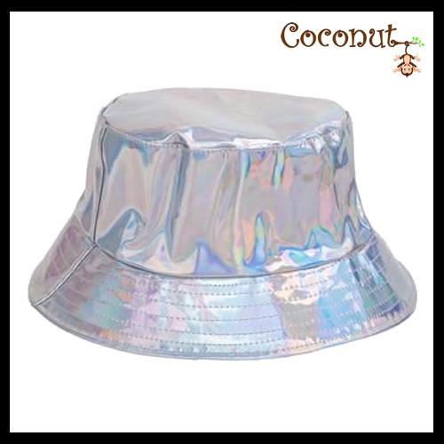 Metallic Bucket Hat - Silver