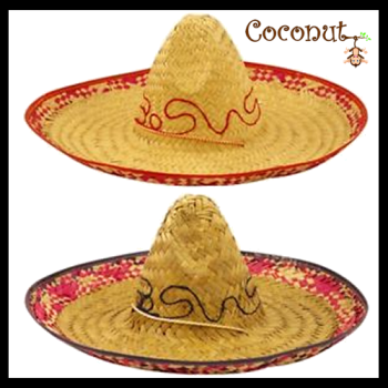 Sombrero with Red/Blue Embroidery