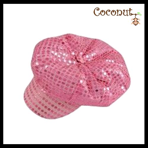 Disco 70's Hat - Pink Sequin