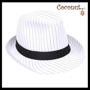 Gangster Pinstripe - White
