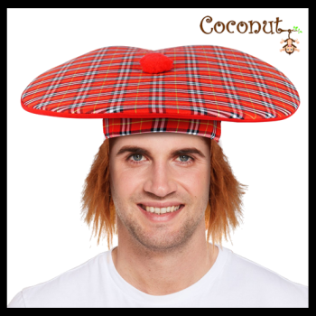 Jumbo Scottish Hat with Ginger Hair
