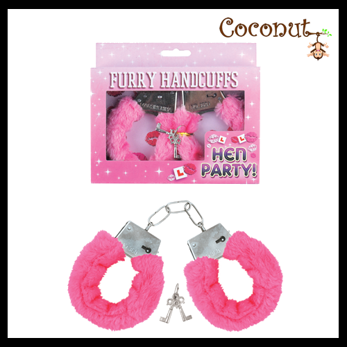 Fur Handcuffs - Pink