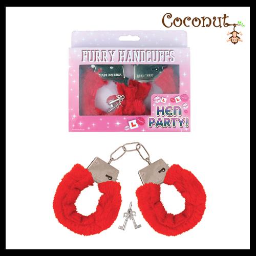 Fur Handcuffs - Red