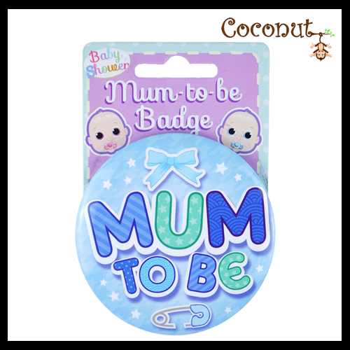 Mum to Be Badge - Blue
