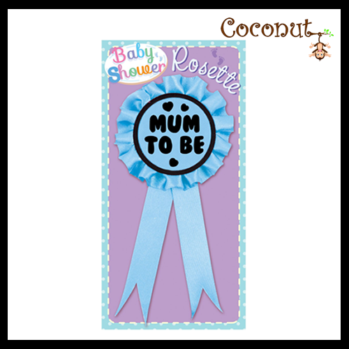 Mum to Be Rosette - Blue
