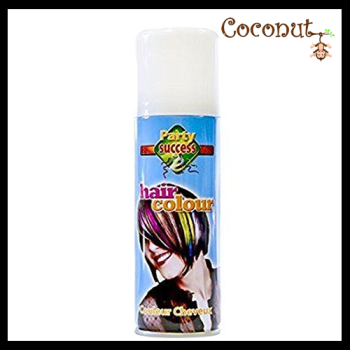 Coloured Hairspray - White