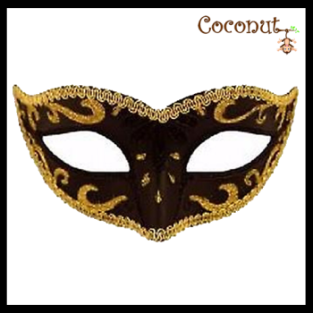 Black Mask with Gold Trim