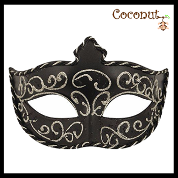 Black Mask with Gold/silver Cord Trim
