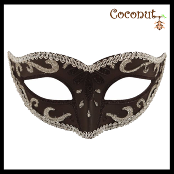 Black Mask with Silver Trim