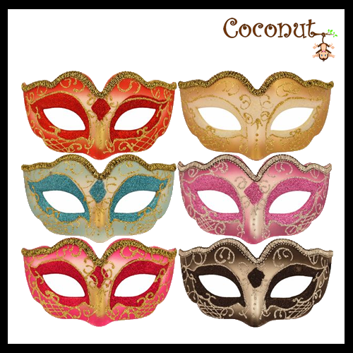 Glitter Mask with Metallic Trim.