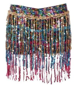 Rainbow Sequin Hot Pants