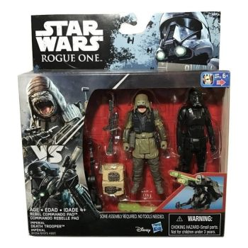 Rebel Commando Pao and Imperial Death Trooper - Rogue One
