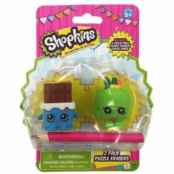Shopkins Eraser Puzzle Chocolate & Apple