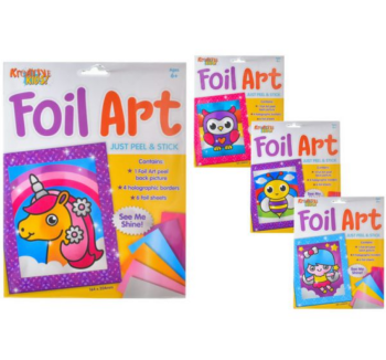 Peel and Stick Foil Art