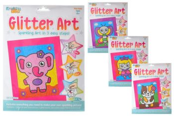Peel and Stick Glitter Art