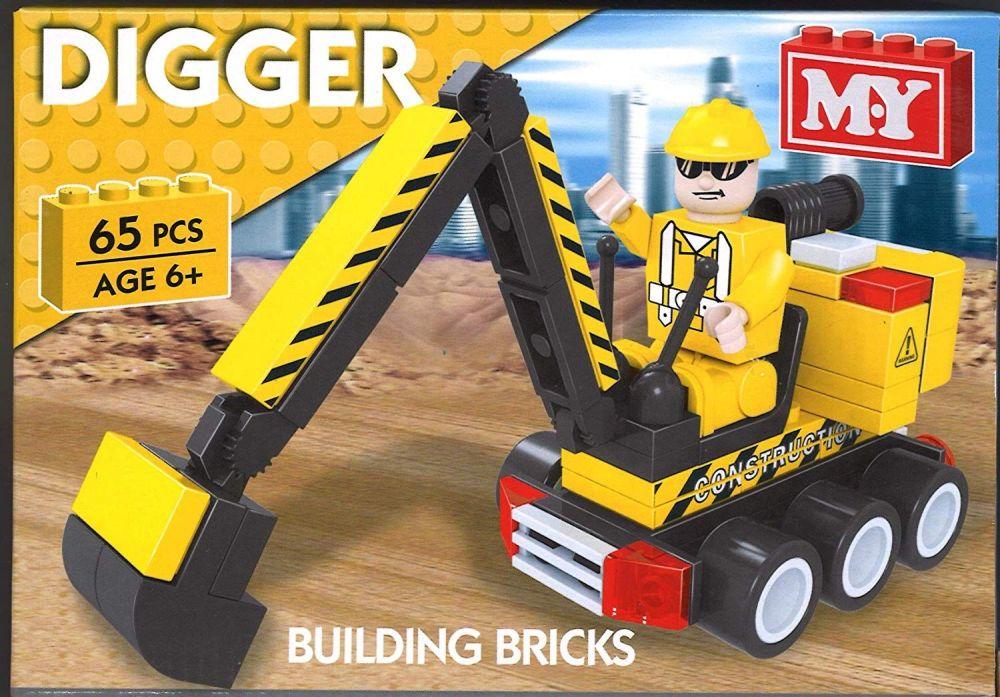 Digger Building Bricks Set