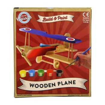 Build & Paint Wooden Plane