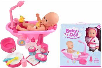 Baby Doll Bathtime Play Set