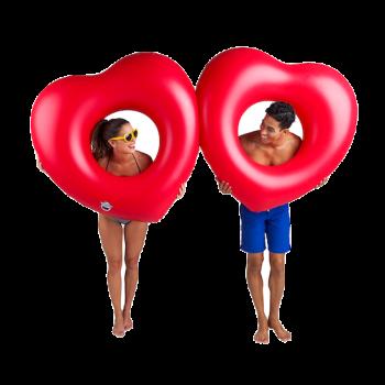 Giant Double Heart Pool Float