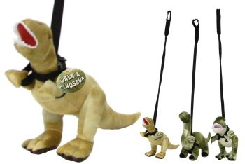 Plush Dinosaur on Lead