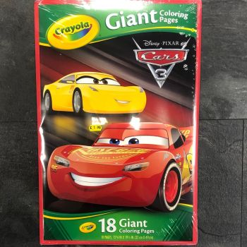 Cars 3 - Crayola Giant Colouring Pages