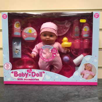 Baby Doll with Sound & Accessories