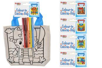 Colour In Canvas Bag