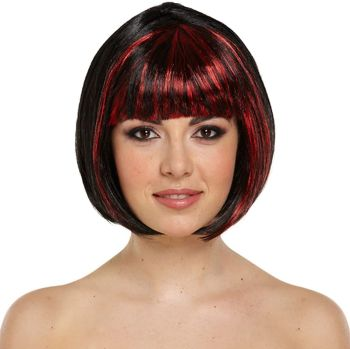 Red And Black Witch Wig